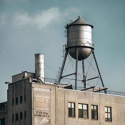 Poster featuring the photograph New York Water Towers 10 by Gary Heller