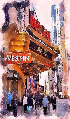New York Westin Poster by Yury Malkov