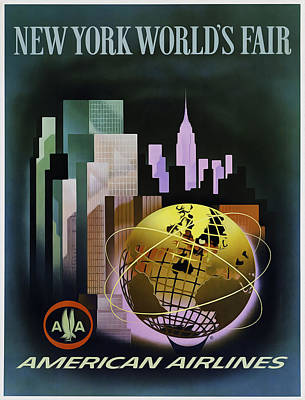 New York Worlds Fair Poster by Mark Rogan