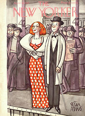 New Yorker April 24th, 1937 Poster by Peter Arno