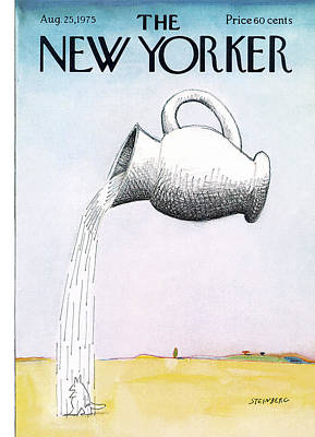 New Yorker August 25th, 1975 Poster by Saul Steinberg