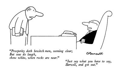 New Yorker August 4th, 1986 Poster by Charles Barsotti