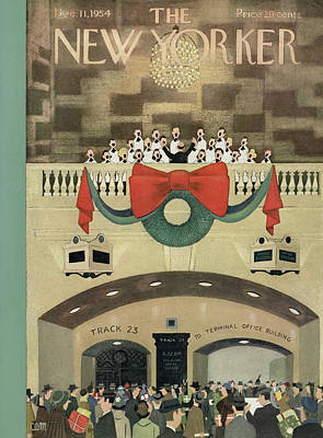 New Yorker December 11th, 1954 Poster