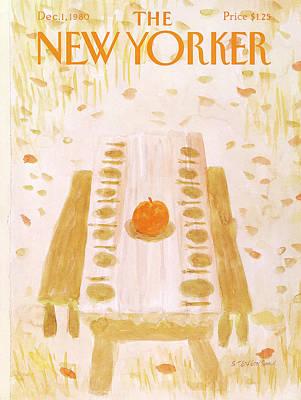 New Yorker December 1st, 1980 Poster by James Stevenson