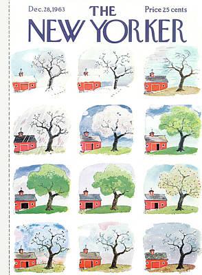 New Yorker December 28th, 1963 Poster by Garrett Price