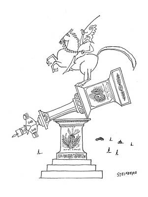 New Yorker February 25th, 1961 Poster by Saul Steinberg