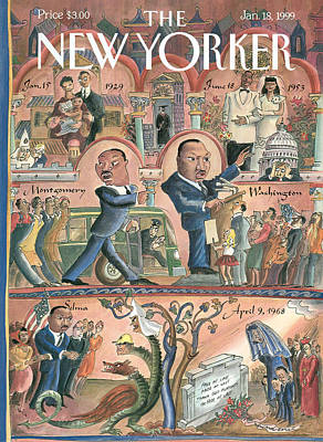 New Yorker January 18th, 1999 Poster by Edward Sorel
