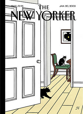 New Yorker January 20th, 2003 Poster by Jean Claude Floc'h