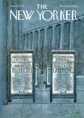 New Yorker January 27th, 1973 Poster by Laura Jean Allen