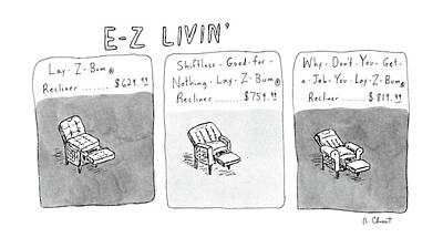 New Yorker January 6th, 1986 Poster by Roz Chast