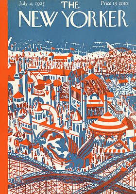 New Yorker July 4th, 1925 Poster
