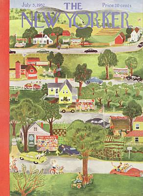 New Yorker July 5th, 1952 Poster by Ilonka Karasz