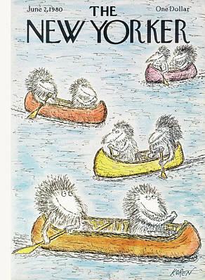 New Yorker June 2nd, 1980 Poster by Edward Koren