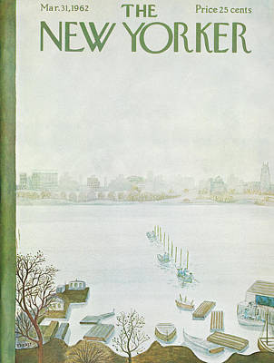 New Yorker March 31st, 1962 Poster by Ilonka Karasz