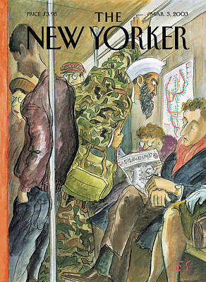 New Yorker March 3rd, 2003 Poster by Edward Sorel