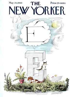 New Yorker May 25th, 1963 Poster by Saul Steinberg