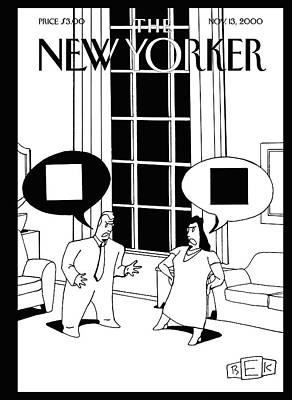 New Yorker November 13th, 2000 Poster by Bruce Eric Kaplan
