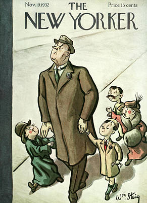 New Yorker November 19th, 1932 Poster by William Steig