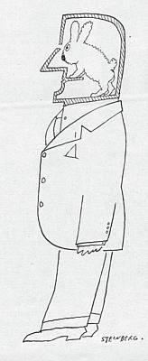 New Yorker November 1st, 1958 Poster by Saul Steinberg