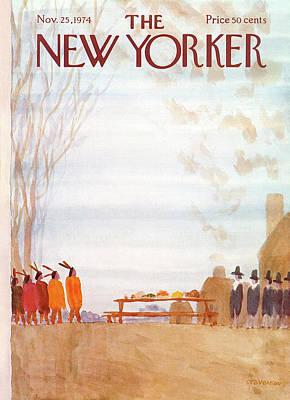 New Yorker November 25th, 1974 Poster by James Stevenson