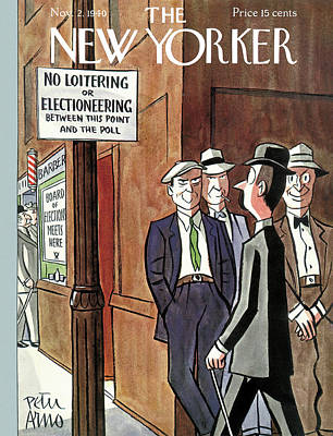 New Yorker November 2nd, 1940 Poster by Peter Arno