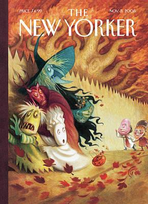 New Yorker November 3rd, 2008 Poster by Carter Goodrich