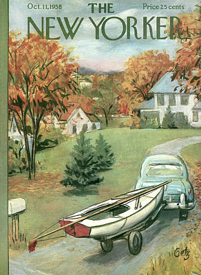 New Yorker October 11th, 1958 Poster by Arthur Getz