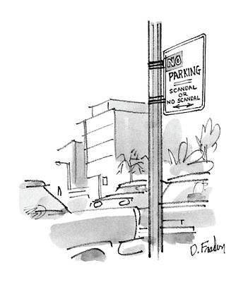 New Yorker October 13th, 1986 Poster by Dana Fradon