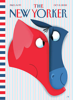 New Yorker October 13th, 2008 Poster by Bob Staake