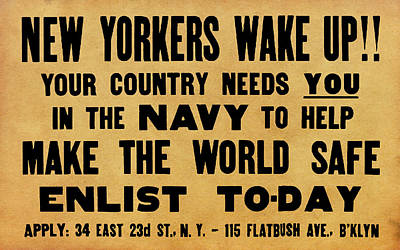 New Yorkers Wake Up Poster by God and Country Prints
