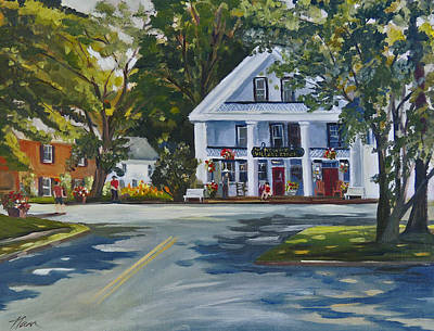 Newbury Village Store Poster by Nancy Griswold