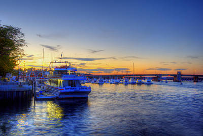 Newburyport Harbor Marina Poster by Joann Vitali