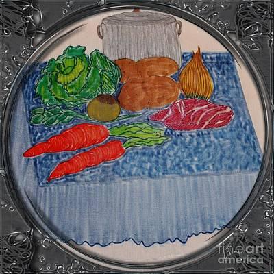 Newfoundland Jiggs Dinner - Porthole Vignette Poster by Barbara Griffin