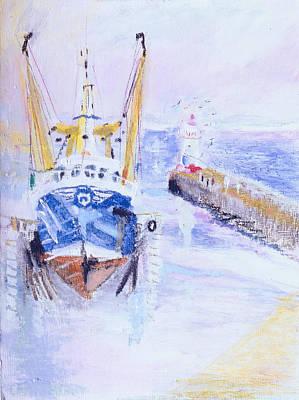 Newlyn, Cornwall, 2005 Oil Pastel & Acrylic On Board Poster