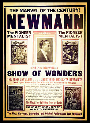 Newmann And His Show Of Wonders  Poster by Jennifer Rondinelli Reilly - Fine Art Photography