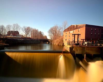 Newmarket Nh Waterfall Poster