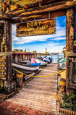 Newport Beach Dory Fishing Fleet Market Photo Poster by Paul Velgos