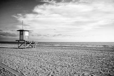 Newport Beach Lifeguard Tower Poster by Tanya Harrison