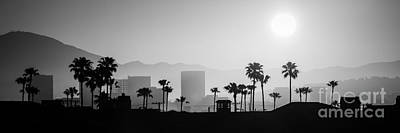 Newport Beach Skyline Sunrise Panoramic Picture Poster by Paul Velgos