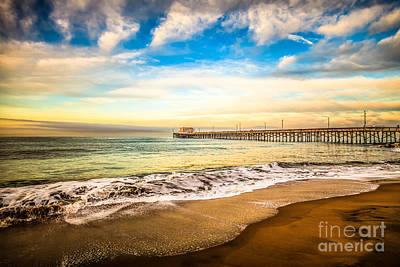 Newport Pier Photo In Newport Beach California Poster by Paul Velgos