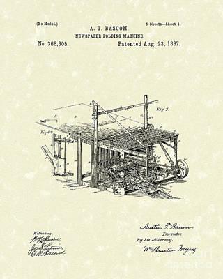 Newspaper Folder 1887 Patent Art Poster