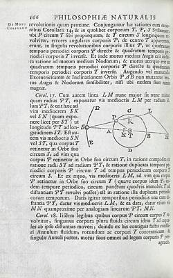Newton On The Three-body Problem Poster by Royal Institution Of Great Britain