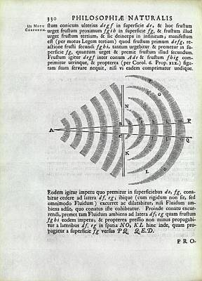 Newton On Wave Theory Poster by Royal Institution Of Great Britain