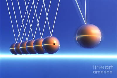 Newtons Cradle In Motion Poster