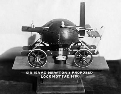 Newton's Teakettle Locomotive Poster