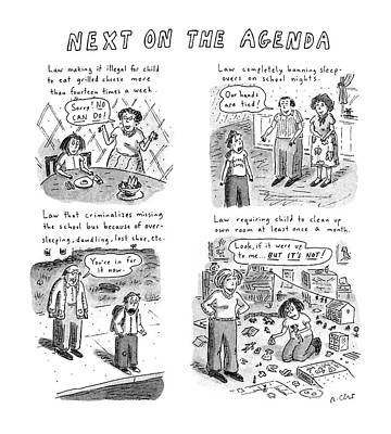 Next On The Agenda Poster by Roz Chast
