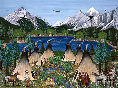 Nez Perce Wallowa Lake Poster by Jennifer Lake