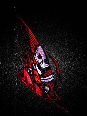 Nfl Bucs Flag Poster by Chauncy Holmes