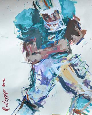 Nfl Football Painting Poster by Robert Joyner