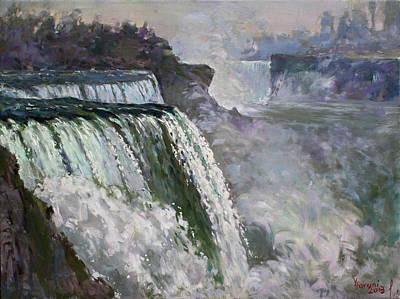 Niagara American Falls 2 Poster by Ylli Haruni